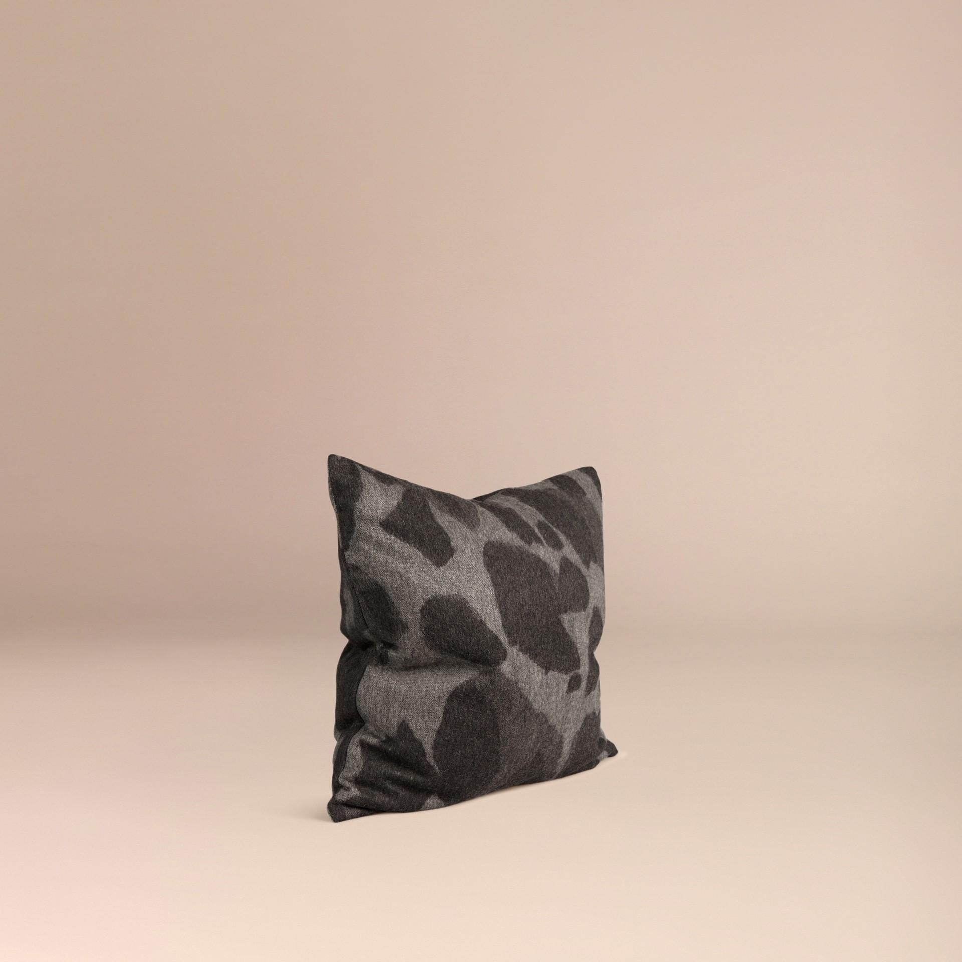 Mid grey print Animal Jacquard Cashmere Cushion Cover Mid Grey Print - gallery image 3