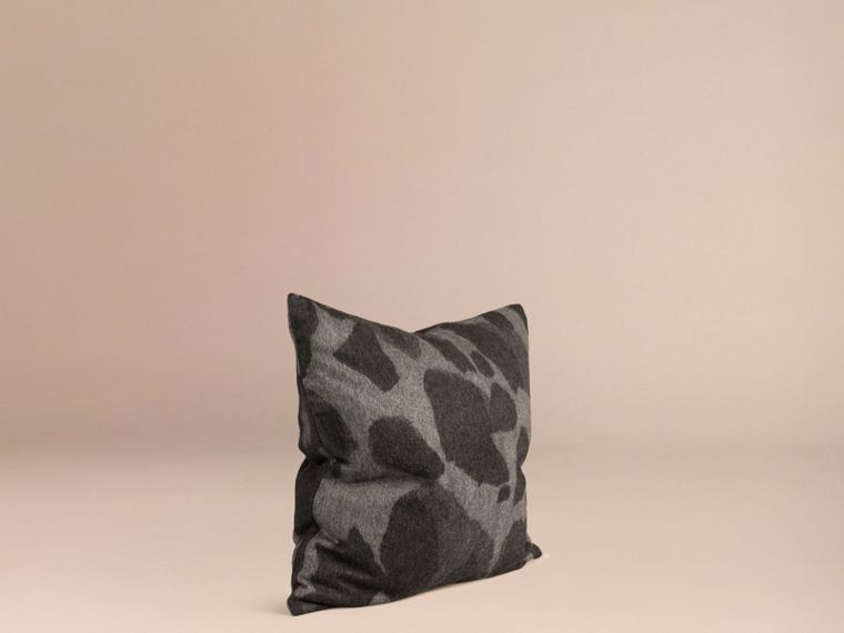 Mid grey print Animal Jacquard Cashmere Cushion Cover Mid Grey Print - cell image 2