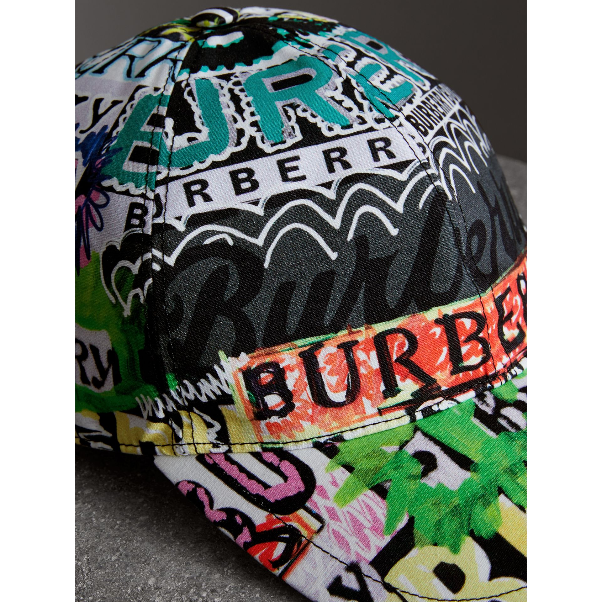 Archive Logo Print Baseball Cap in Multicolour | Burberry - gallery image 1