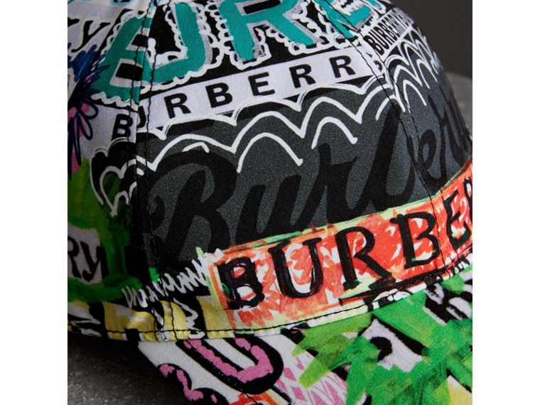 Archive Logo Print Baseball Cap in Multicolour | Burberry Singapore - cell image 1