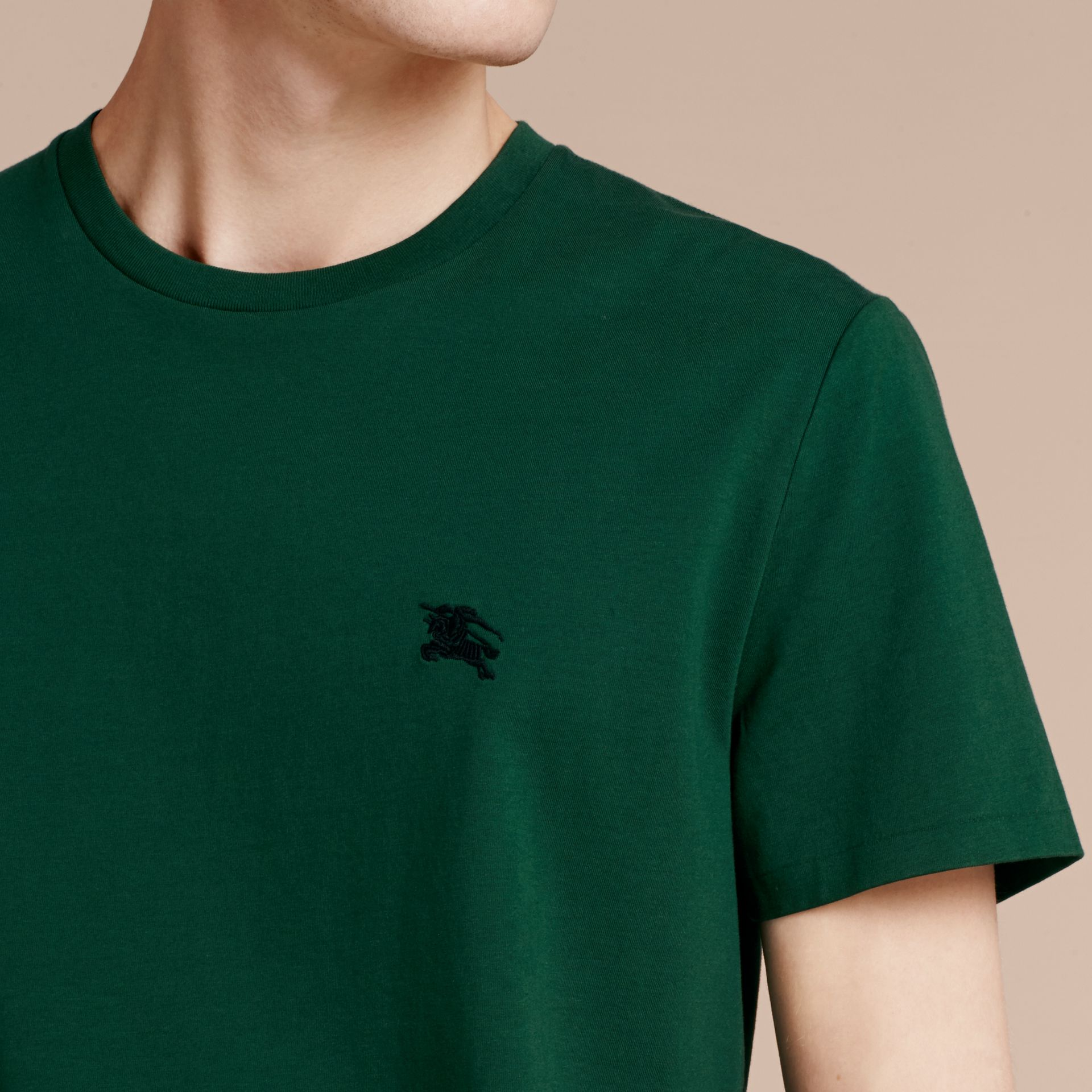 Racing green Liquid-soft Cotton T-Shirt Racing Green - gallery image 5