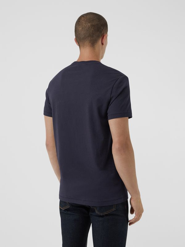 Cotton Jersey T-shirt in Navy - Men | Burberry Singapore - cell image 2