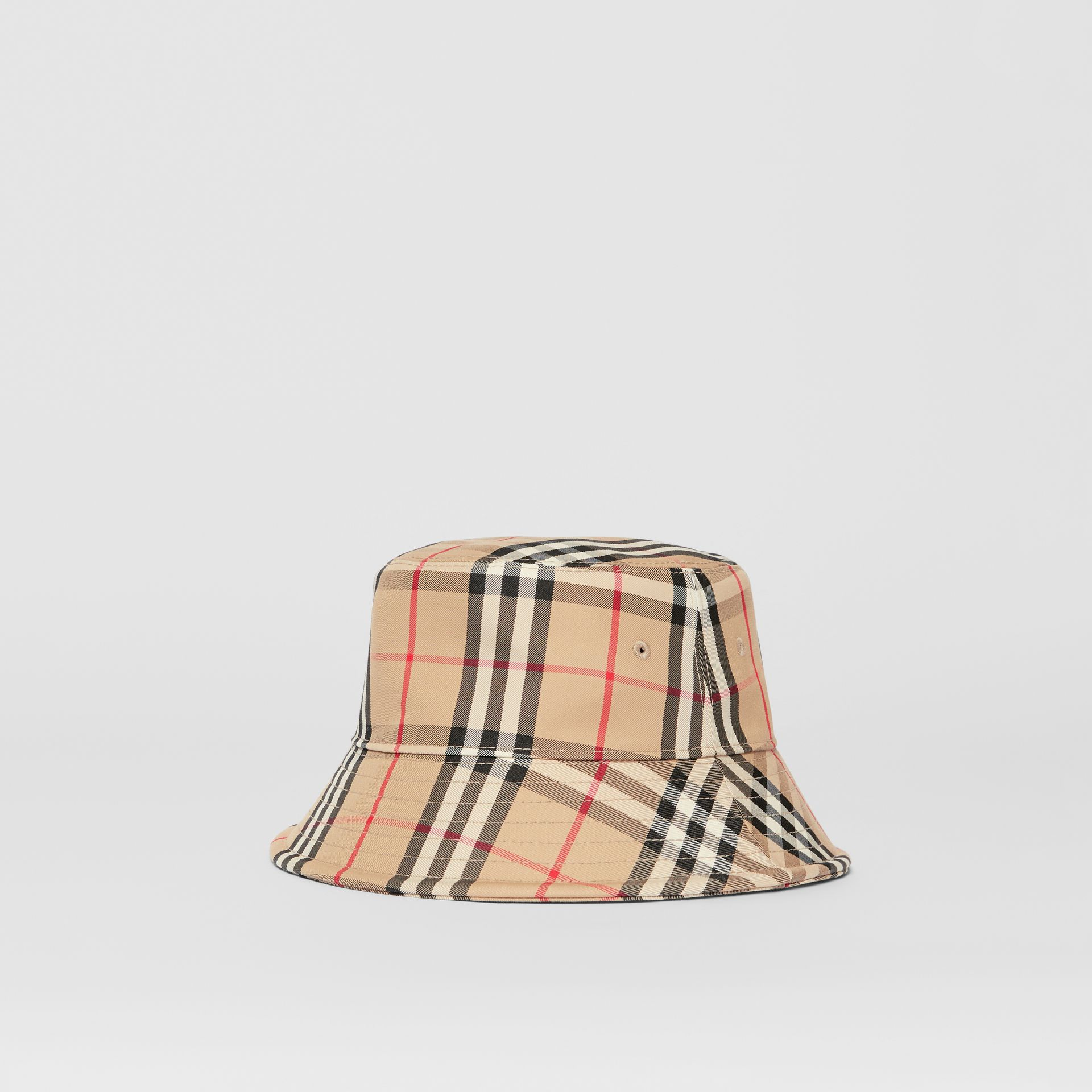 Vintage Check Cotton Blend Bucket Hat in Archive Beige | Burberry - gallery image 5