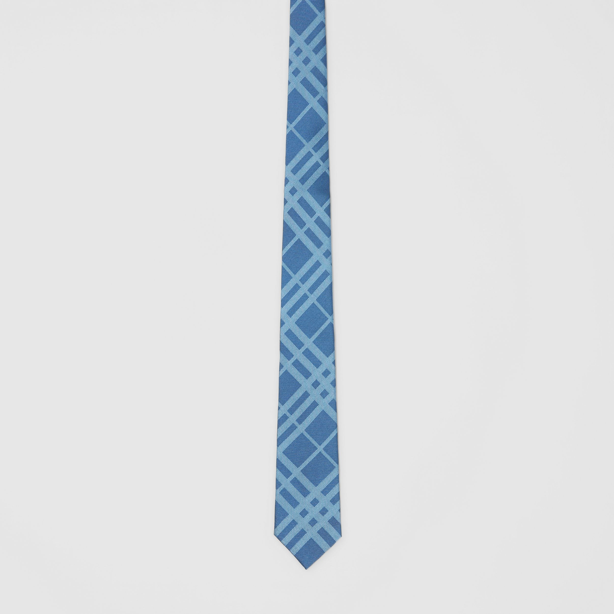 Classic Cut Check Silk Jacquard Tie in Blue Topaz - Men | Burberry - 4