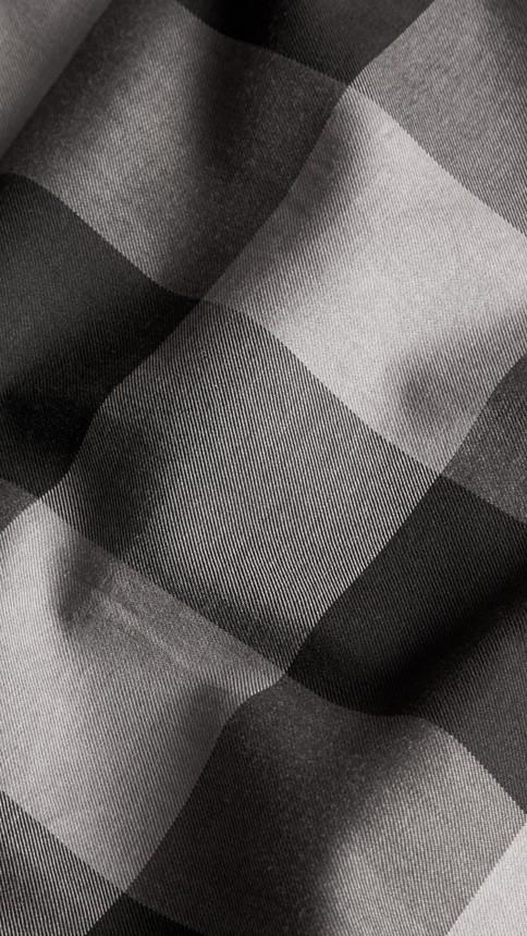 Charcoal Short-sleeved Check Cotton Shirt Charcoal - Image 2