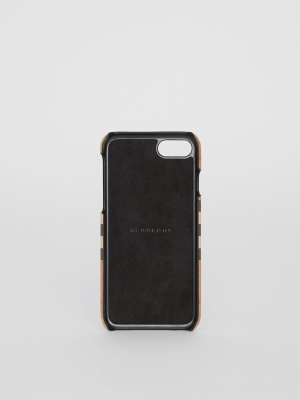 Custodia per iPhone 8 in pelle e motivo Vintage check (Nero) | Burberry - cell image 2