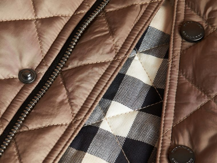 Diamond Quilted Jacket in Dark Mushroom - cell image 1