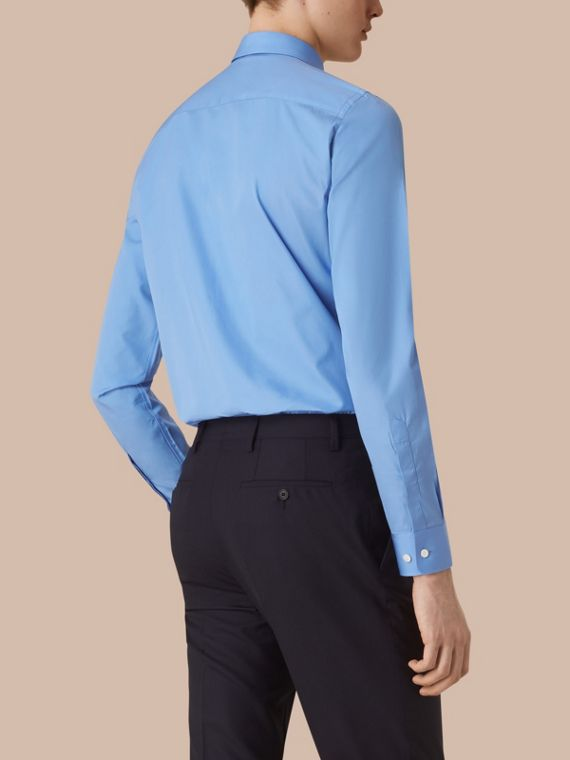 Slim Fit Cotton Poplin Shirt Mid Blue - cell image 2