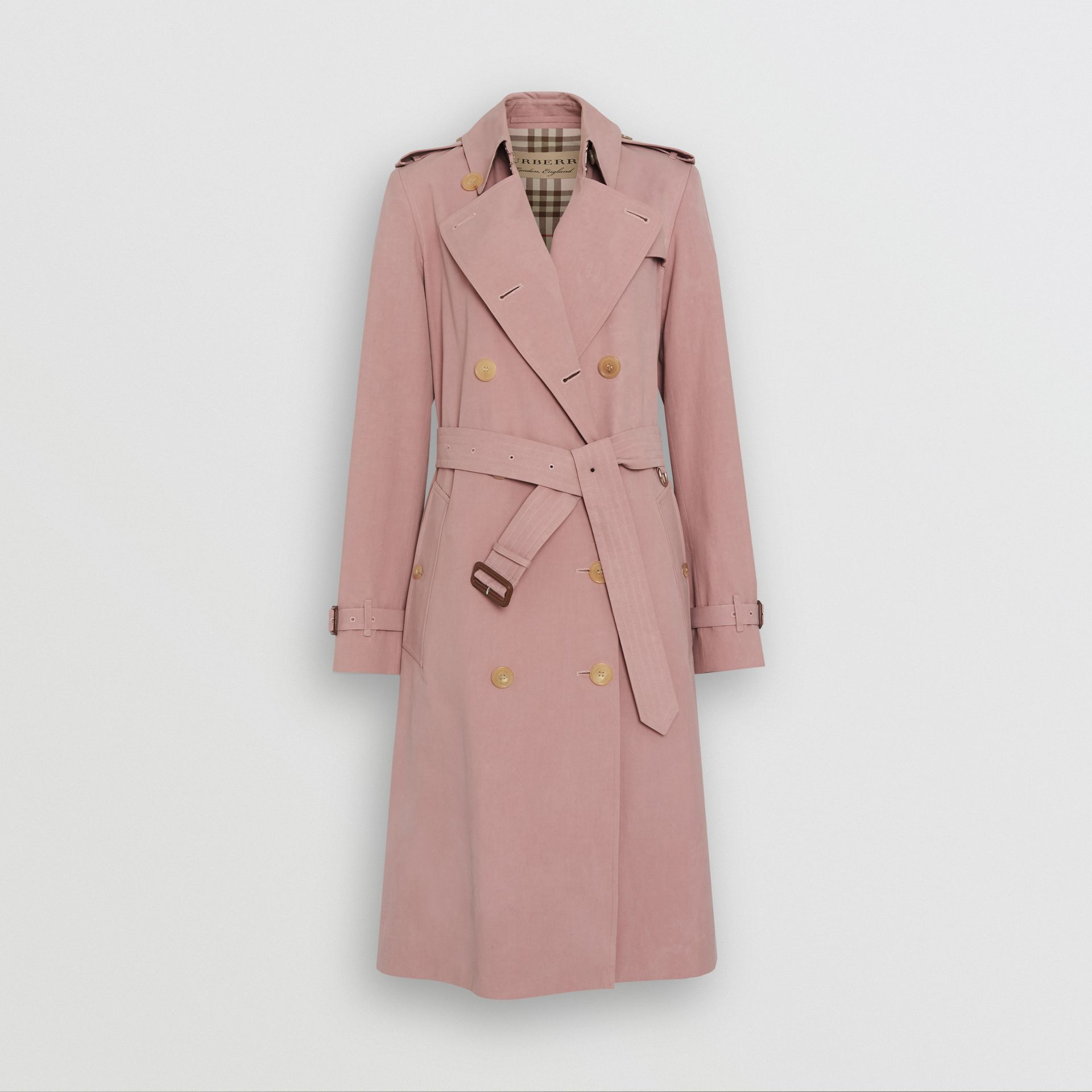 Tropical Gabardine Trench Coat in Chalk Pink - Women | Burberry - gallery image 3