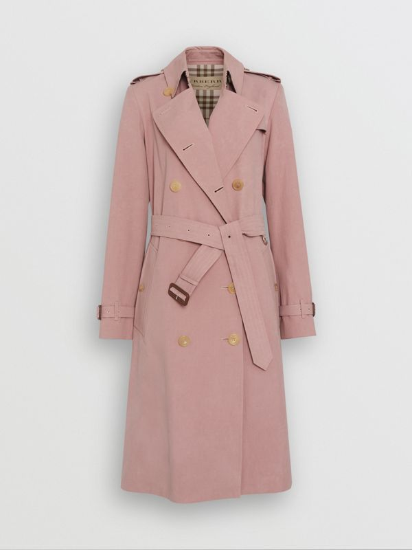Tropical Gabardine Trench Coat in Chalk Pink - Women | Burberry - cell image 3
