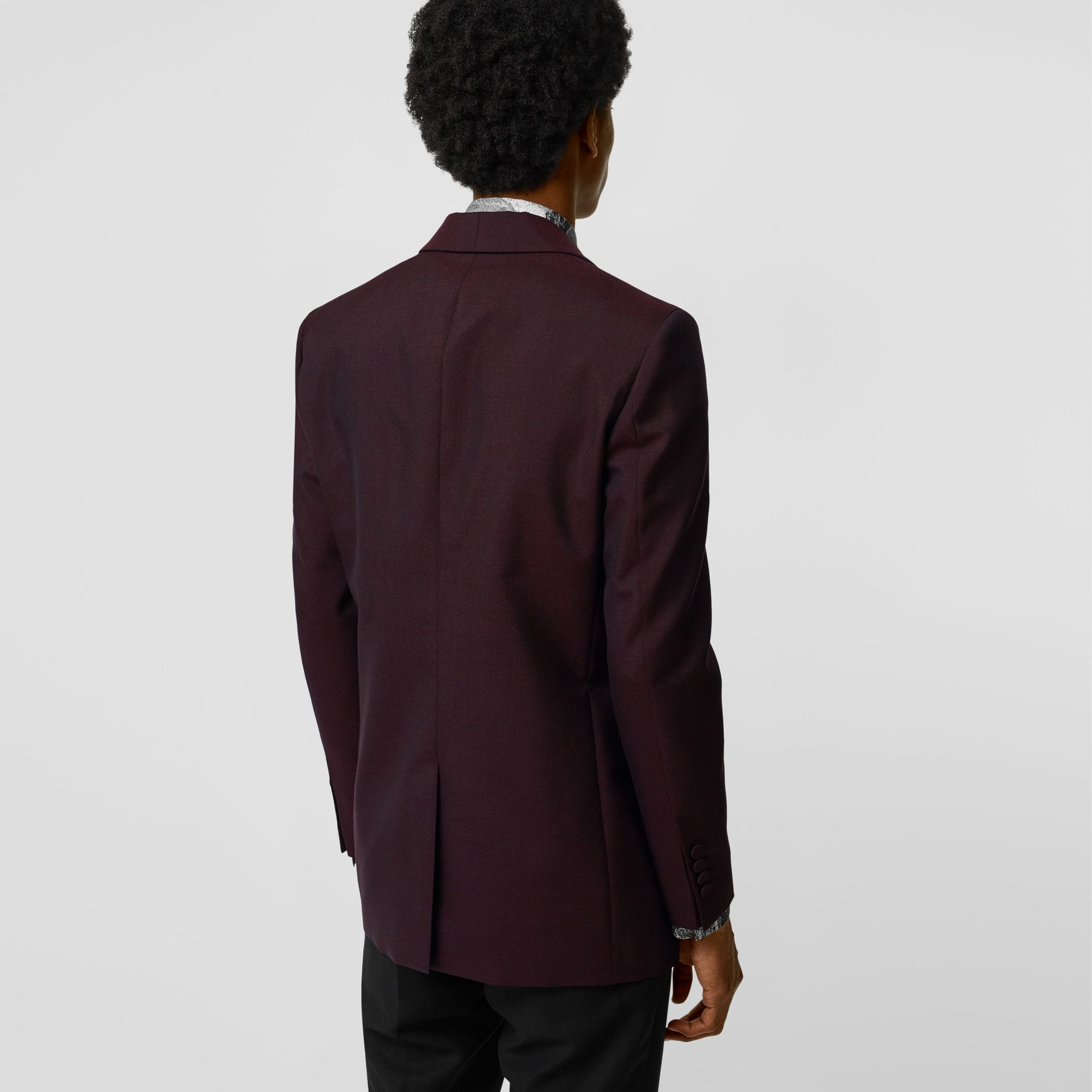 Classic Fit Mohair Evening Jacket in Deep Burgundy - Men | Burberry - gallery image 2
