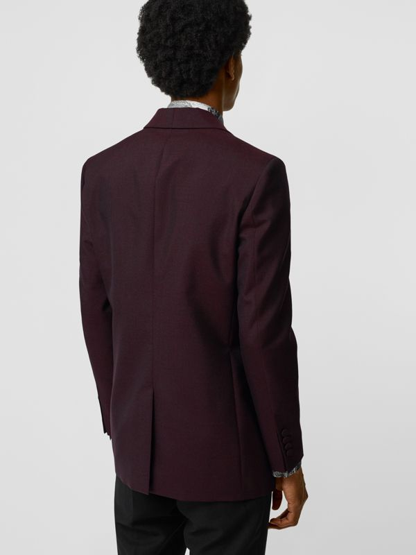 Classic Fit Mohair Evening Jacket in Deep Burgundy - Men | Burberry - cell image 2