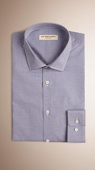 Slim Fit Gingham Cotton Poplin Shirt