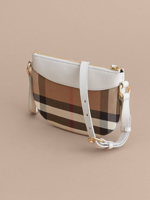 House Check and Leather Crossbody Bag in Natural - Girl | Burberry - cell image 2