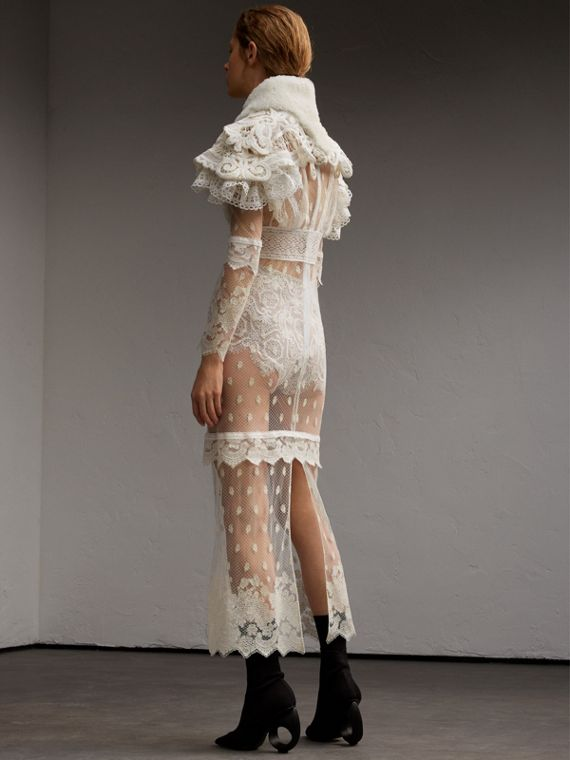 Lace Capelet with Shearling Collar - cell image 2