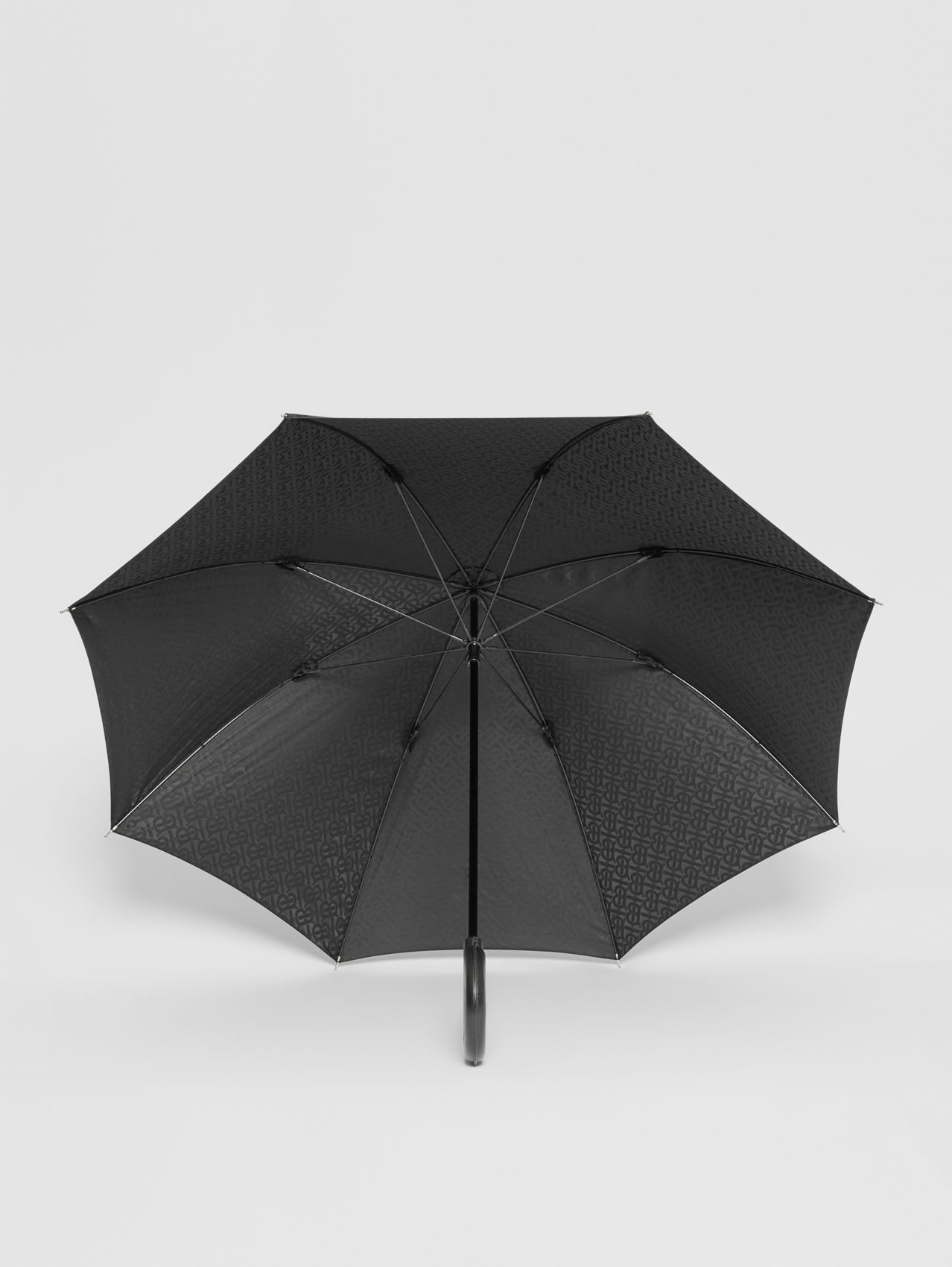 Monogram Print Umbrella in Black
