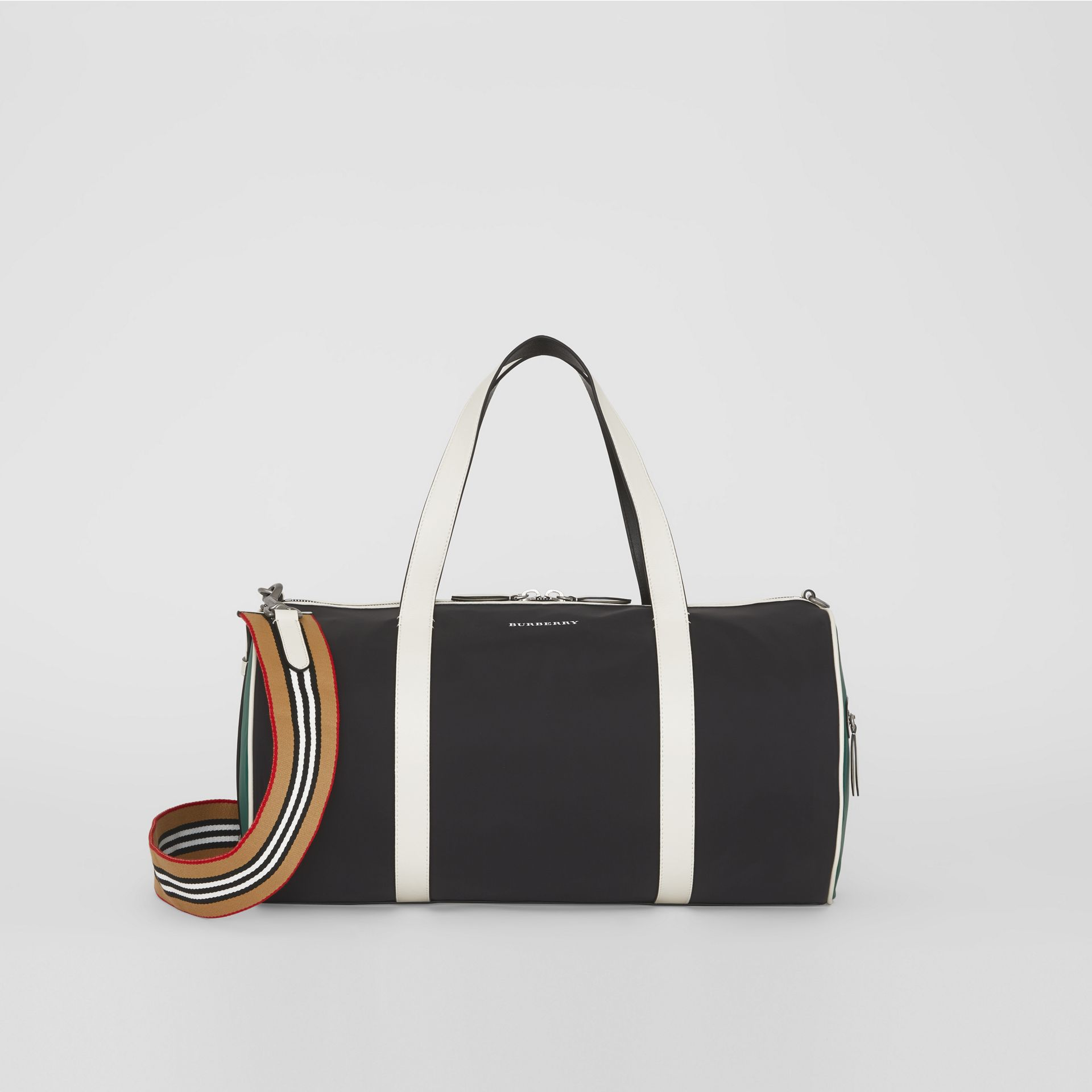 Sac The Barrel moyen en nylon et cuir tricolore (Noir) - Homme | Burberry Canada - photo de la galerie 4