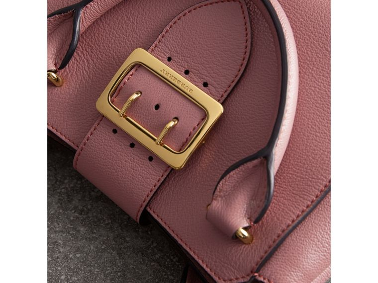 The Small Buckle Tote in Grainy Leather in Dusty Pink - cell image 1