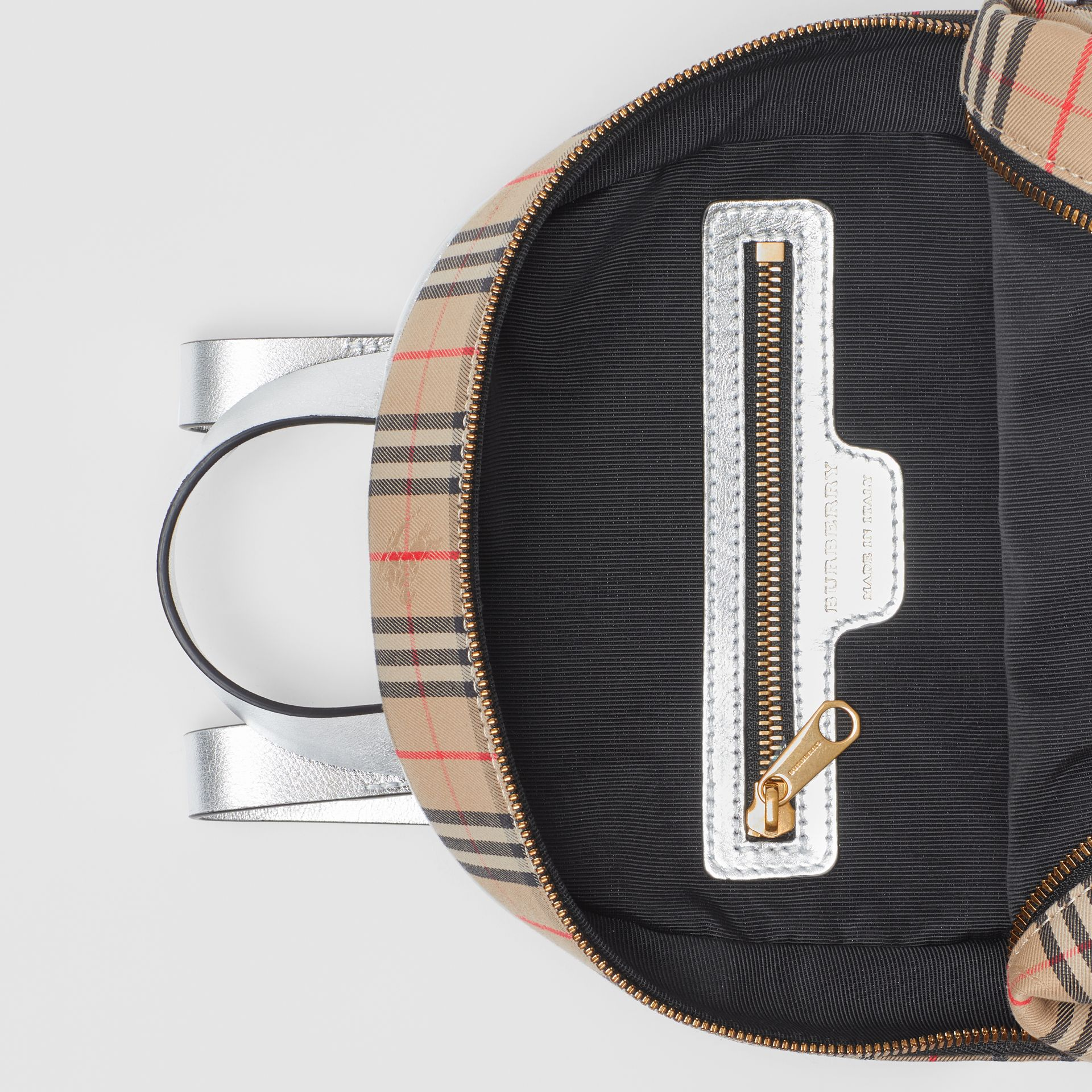 The 1983 Check Link Backpack in Silver - Women | Burberry United States - gallery image 3