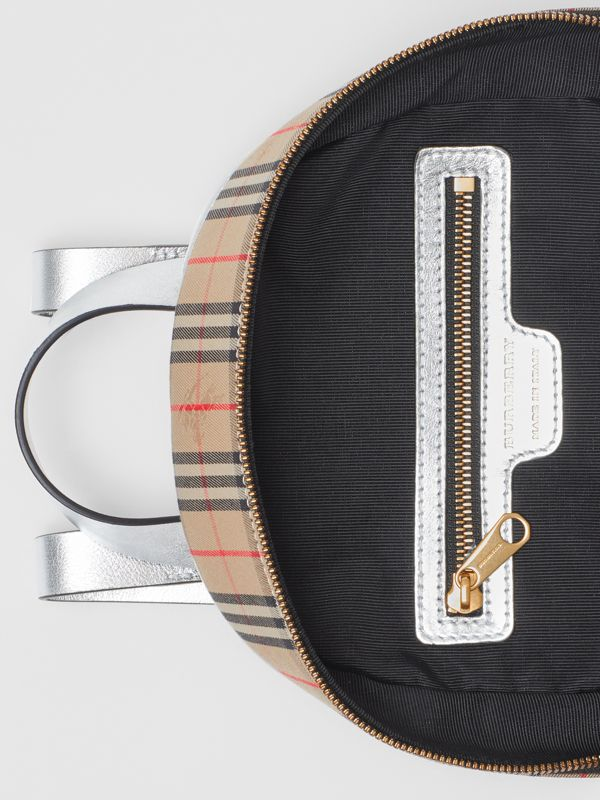 The 1983 Check Link Backpack in Silver - Women | Burberry United Kingdom - cell image 3