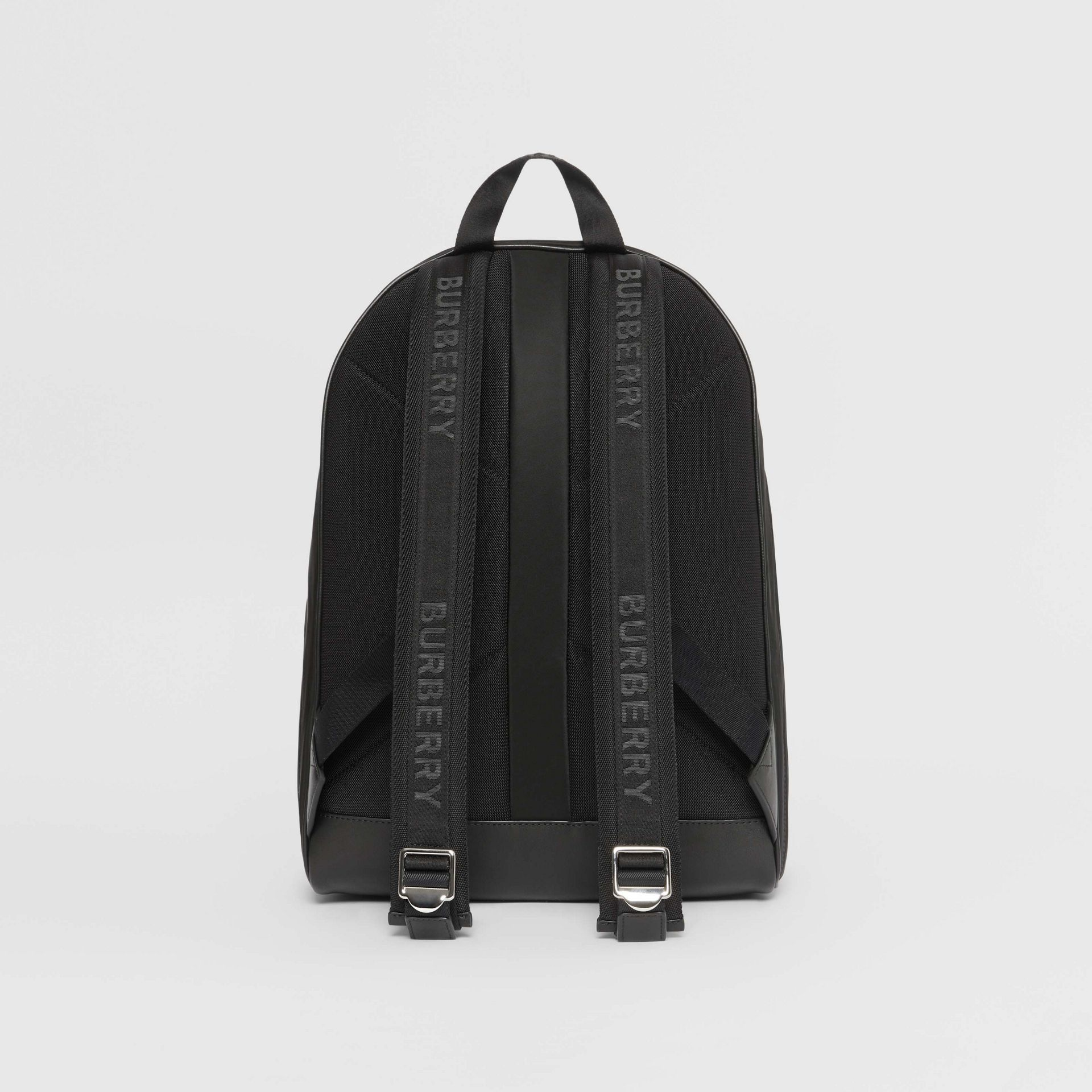Logo Print Nylon Backpack in Black | Burberry - gallery image 7