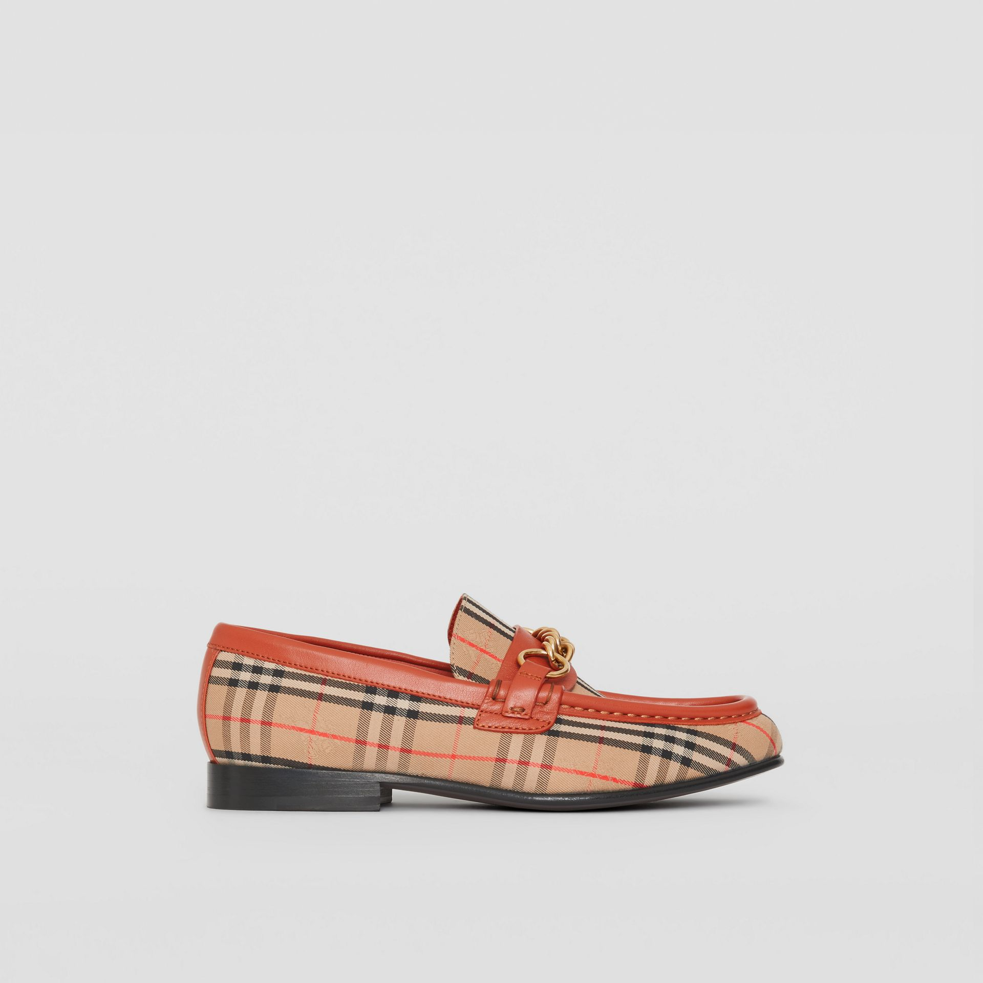 The 1983 Check Link Loafer in Brick Red - Women | Burberry - gallery image 4