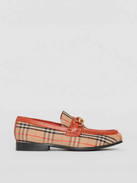 The 1983 Check Link Loafer in Brick Red