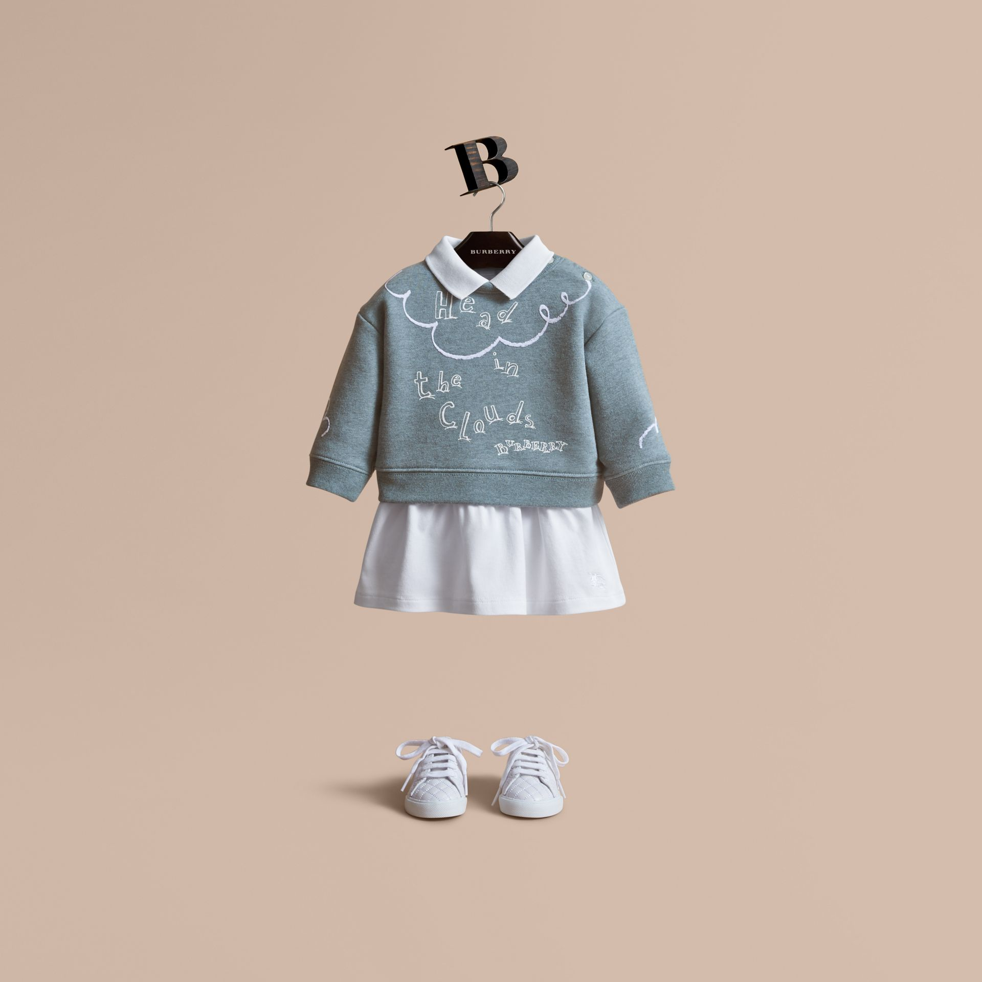Head in the Clouds Print Cotton Sweatshirt - Children | Burberry Canada - gallery image 1