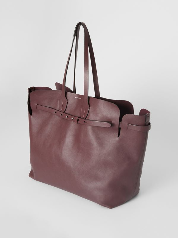 The Large Soft Leather Belt Bag in Deep Claret - Women | Burberry - cell image 3