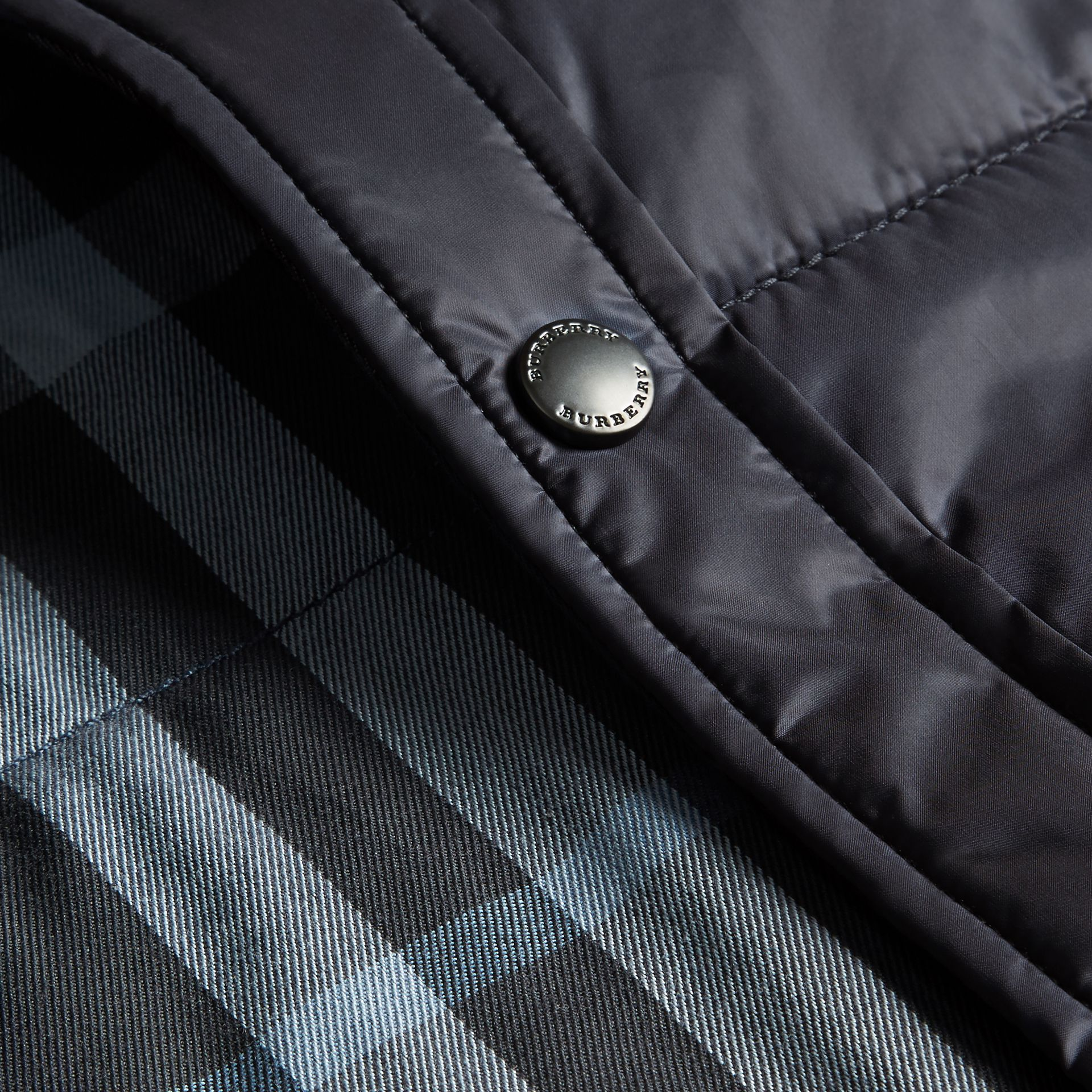 Navy Quilted Technical Shirt - gallery image 2
