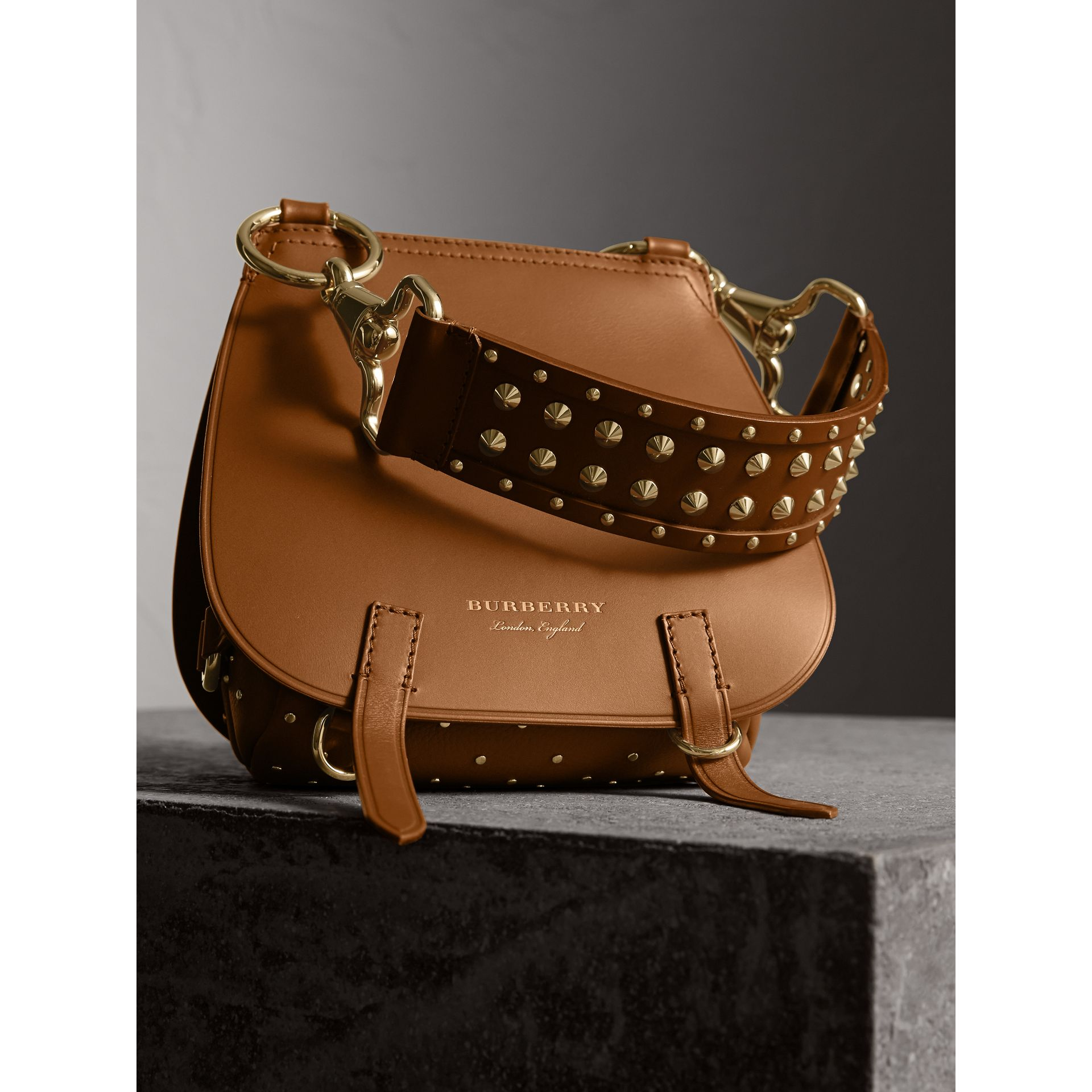 The Bridle Bag in Leather and Rivets in Tan - gallery image 7