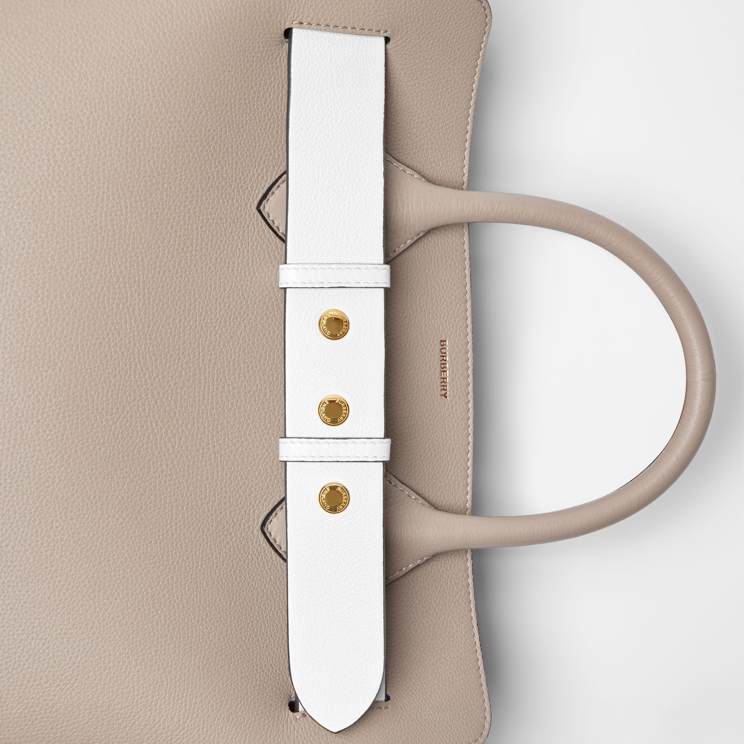 The Small Tri-tone Leather Triple Stud Belt Bag in Mineral Grey - Women | Burberry - 2