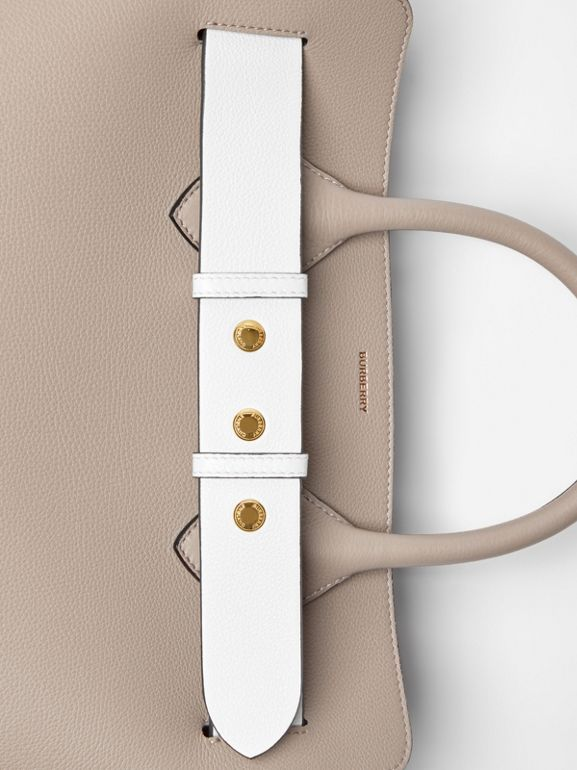 The Small Tri-tone Leather Triple Stud Belt Bag in Mineral Grey - Women | Burberry - cell image 1