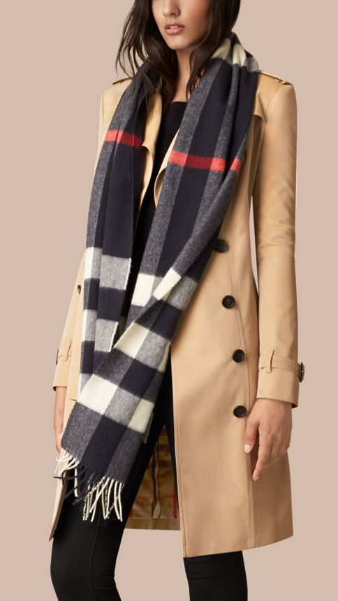 Giant Exploded Check Cashmere Scarf - Image 4
