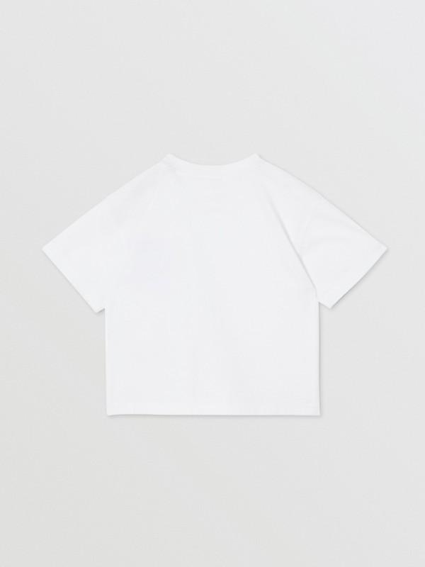 Icon Stripe Pocket Cotton T-shirt in White/archive Beige - Children | Burberry United Kingdom - cell image 3