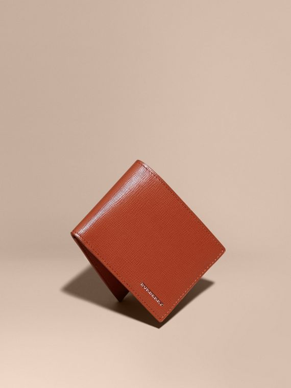 London Leather Bifold Wallet Burnt Sienna