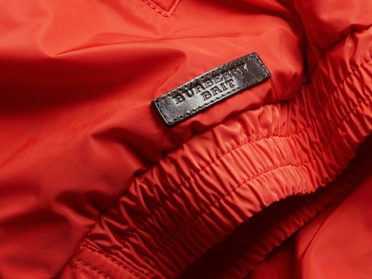 Orange red Showerproof Bomber Jacket - cell image 1