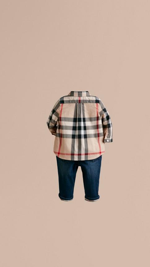 New classic Check Cotton Shirt - Image 3