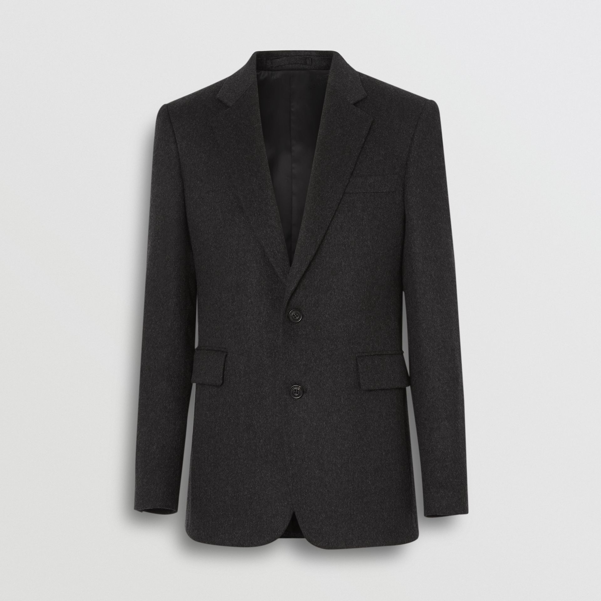 Classic Fit Cashmere Tailored Jacket in Dark Grey Melange - Men | Burberry - gallery image 3