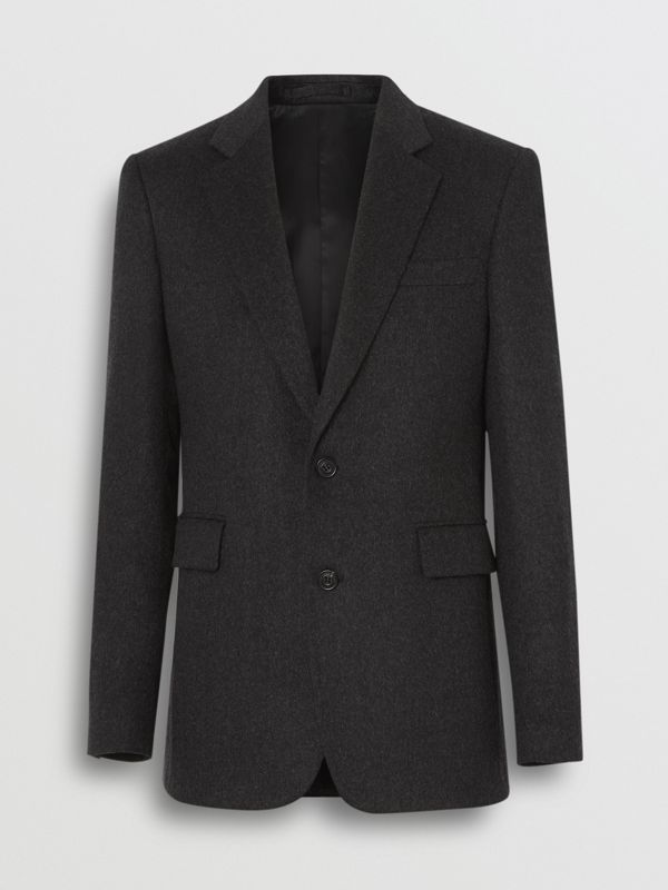 Classic Fit Cashmere Tailored Jacket in Dark Grey Melange - Men | Burberry - cell image 3