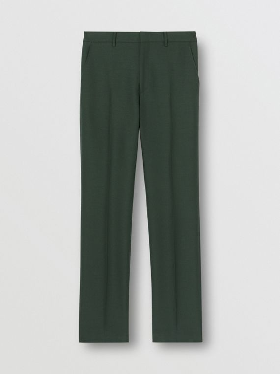 經典剪裁羊毛馬海套量裁製長褲 (暗森林綠)