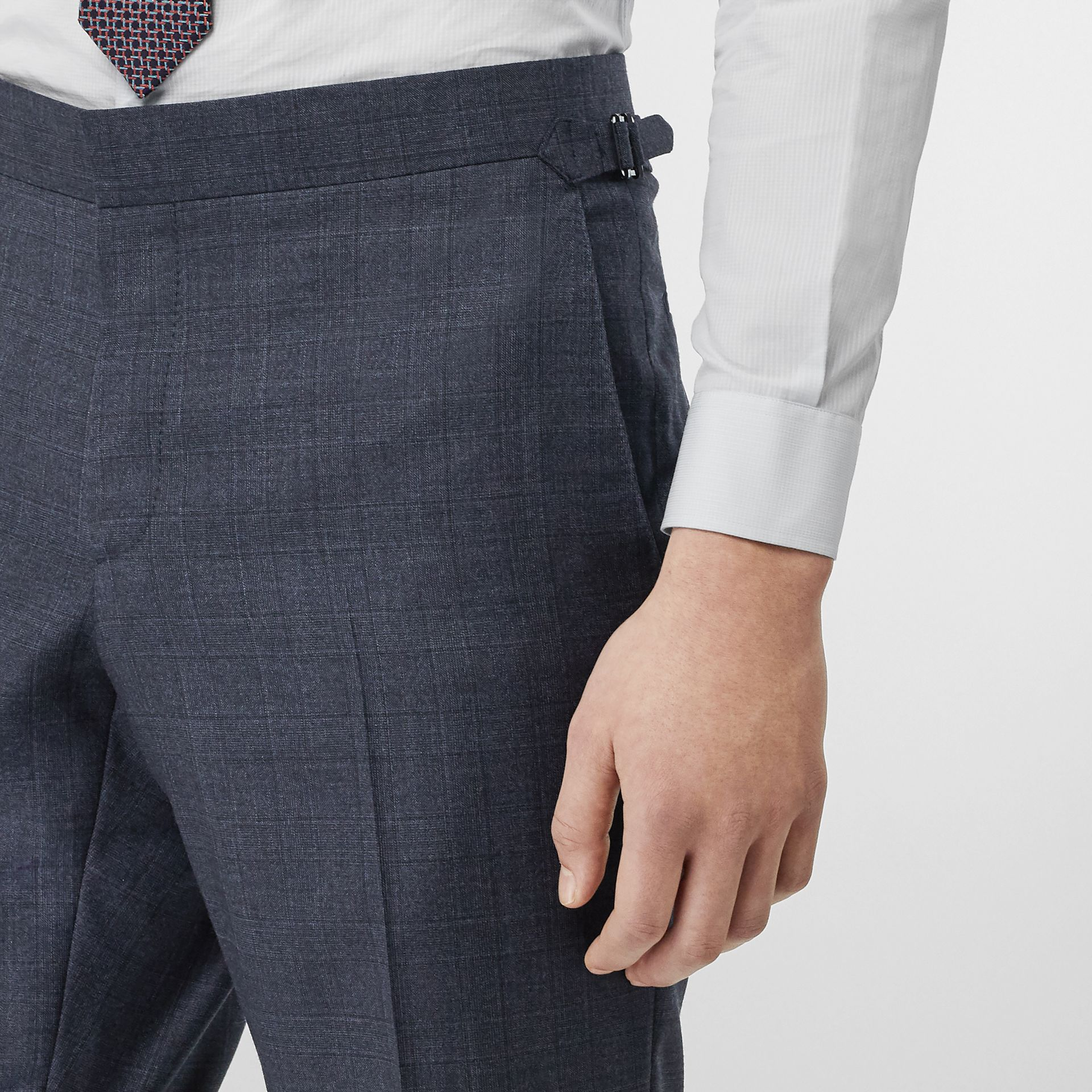 Classic Fit Check Wool Three-piece Suit in Steel Blue - Men | Burberry Australia - gallery image 5