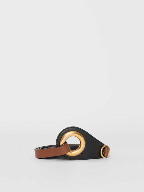 Grommet Detail Lambskin Waist Belt in Tan/black - Women | Burberry - cell image 3