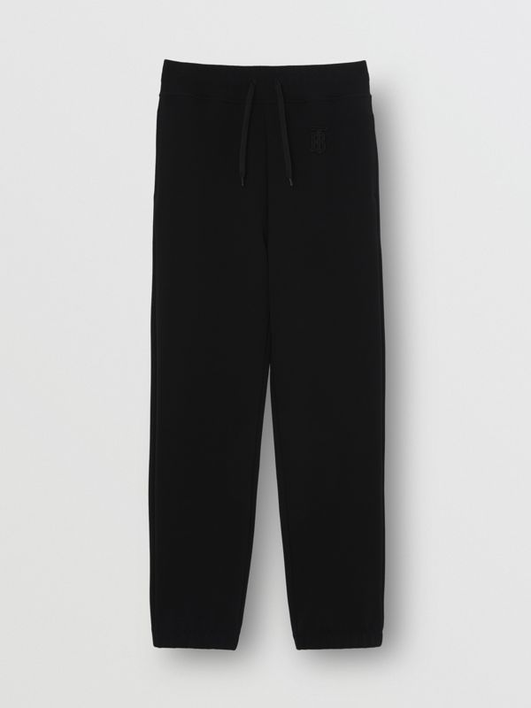Monogram Motif Technical Trackpants in Black - Women | Burberry - cell image 3