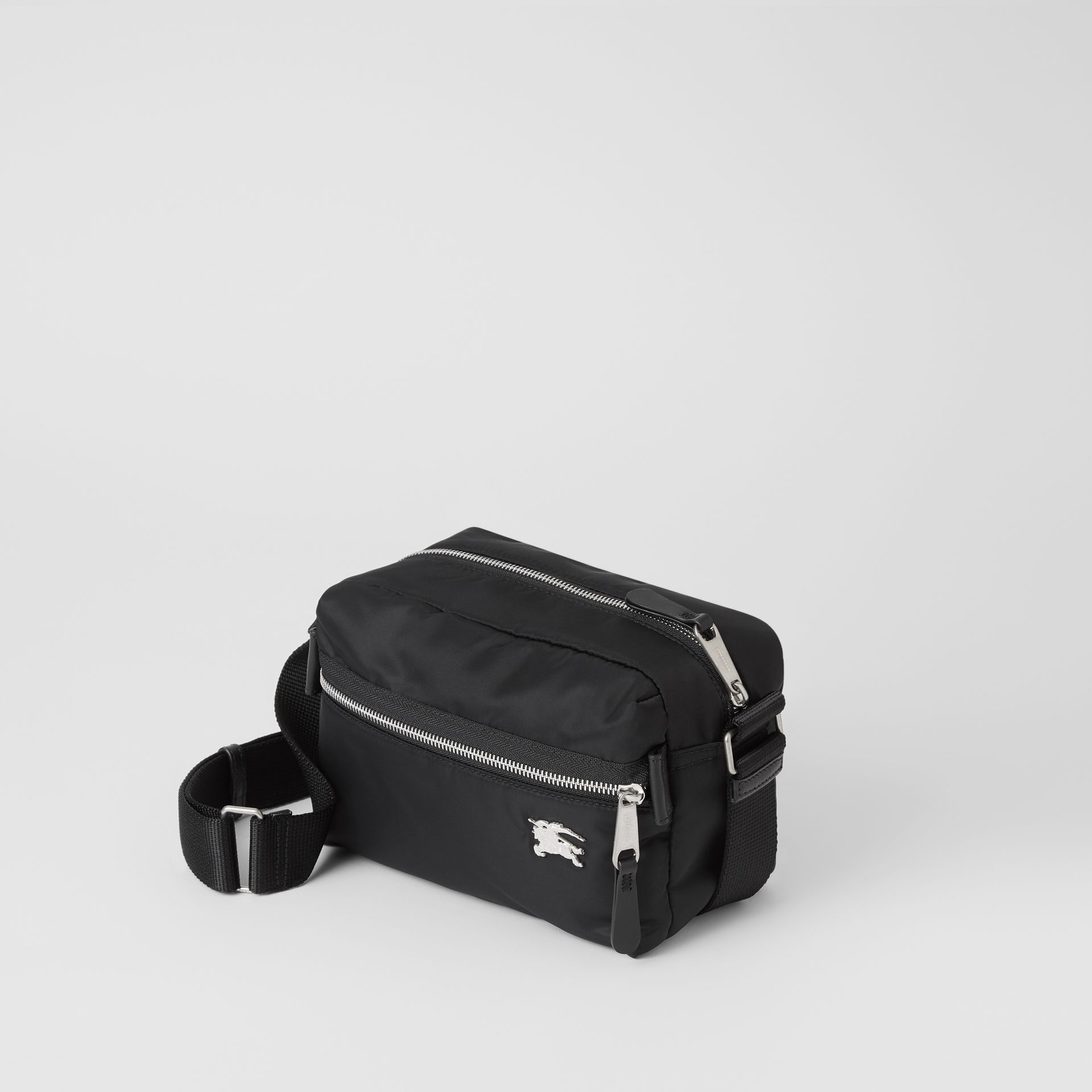 EKD Aviator Nylon and Leather Crossbody Bag in Black - Men | Burberry United Kingdom - gallery image 3
