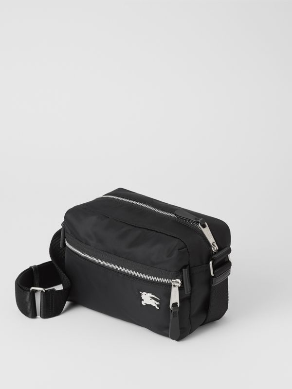 EKD Aviator Nylon and Leather Crossbody Bag in Black - Men | Burberry - cell image 3
