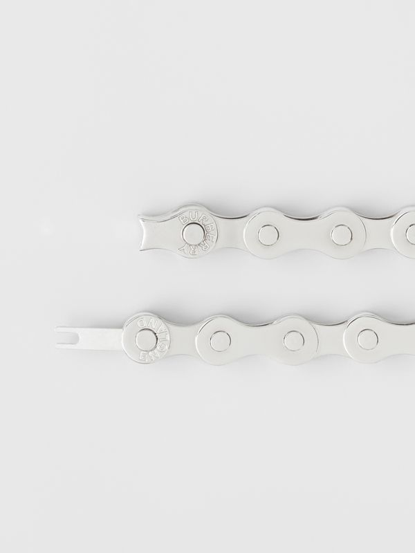 Bicycle Chain Palladium-plated Bracelet in Silver - Men | Burberry - cell image 2