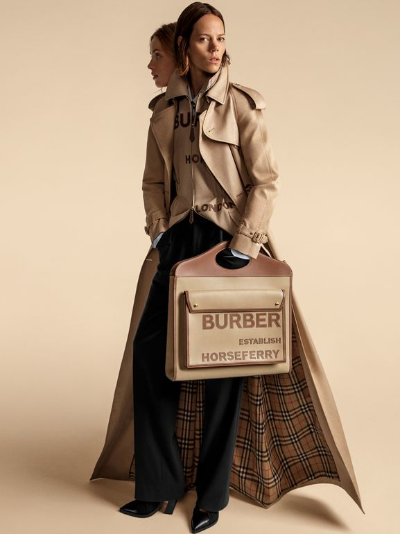 Extra Long Cotton Gabardine Trench Coat in Soft Fawn - Women | Burberry United Kingdom - cell image 1