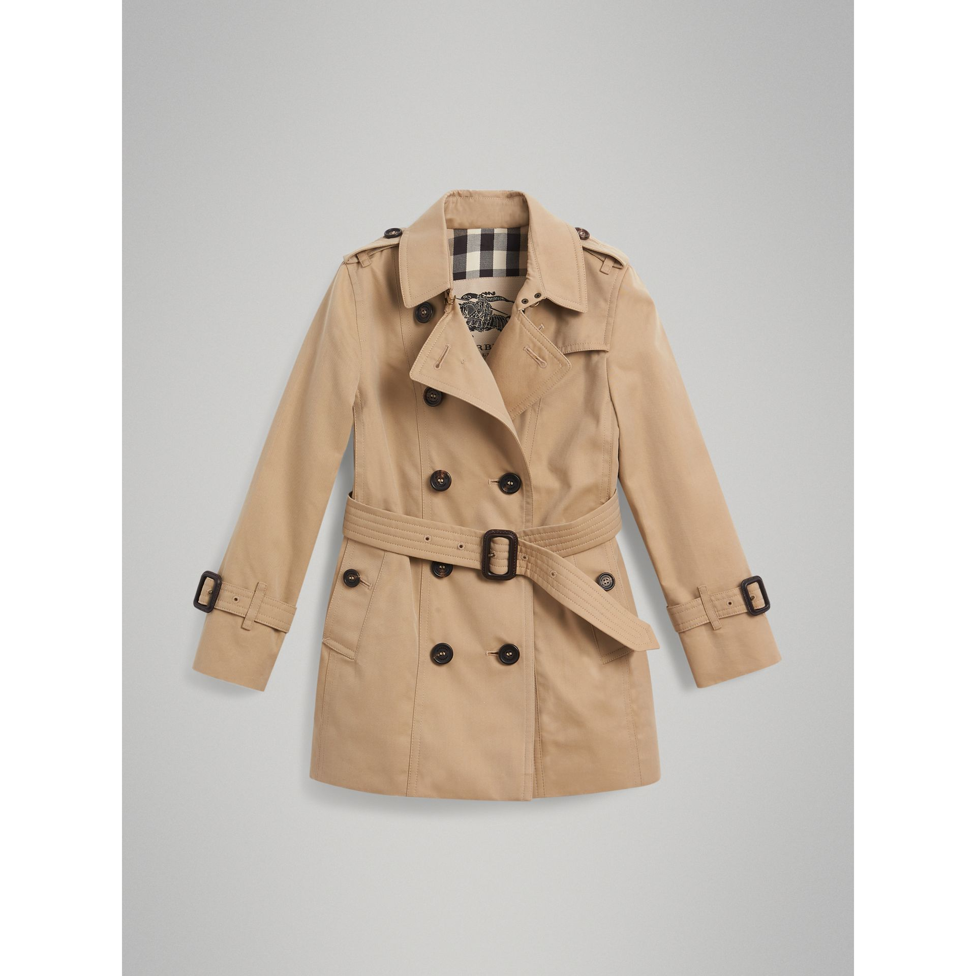 The Sandringham Trench Coat in Honey - Girl | Burberry United Kingdom - gallery image 3