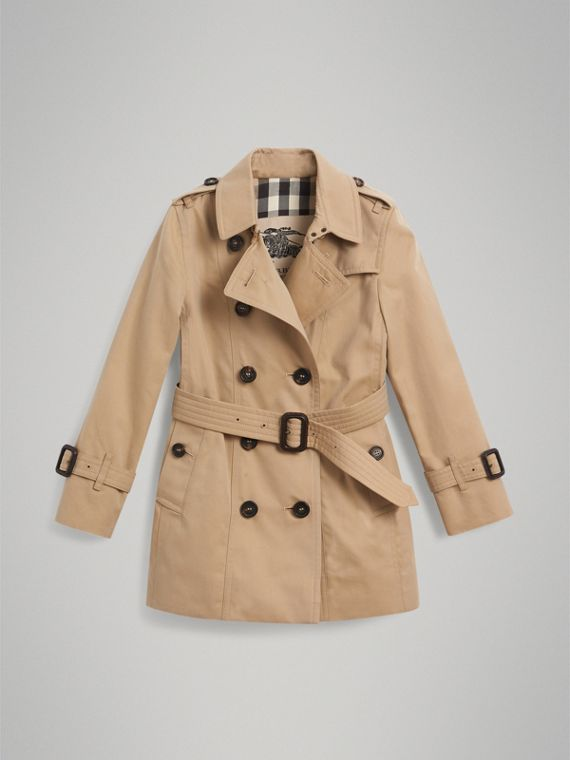 The Sandringham Trench Coat in Honey - Girl | Burberry United Kingdom - cell image 3